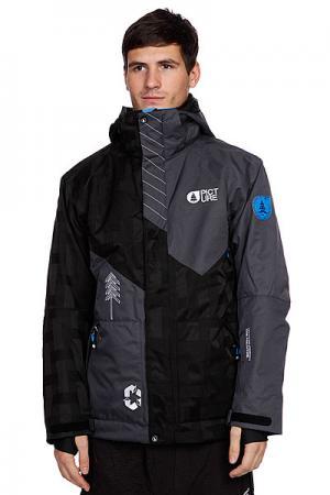 Куртка  Honey Jkt Black/Grey Picture Organic. Цвет: серый,черный