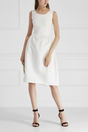 Платье из шелка и хлопка Cyrille Gassiline. Цвет: белый