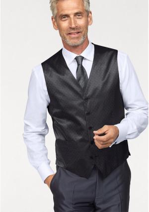 Комплект: жилет + галстук платок STUDIO COLETTI. Цвет: антрацитовый в горох