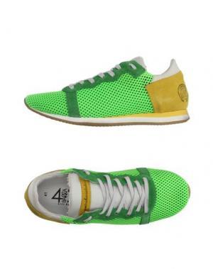 Низкие кеды и кроссовки QUATTROBARRADODICI. Цвет: кислотно-зеленый