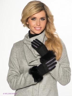 Перчатки Sabellino. Цвет: лиловый, черный