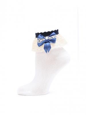 Носки LARMINI. Цвет: белый, темно-синий