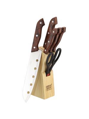 Набор ножей Bekker. Цвет: коричневый