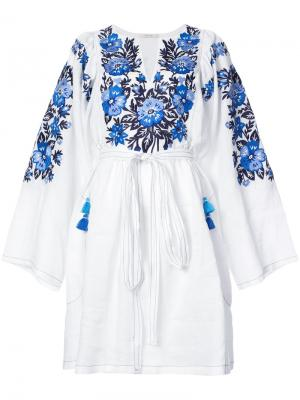 Embroidered midi dress Vita Kin. Цвет: белый