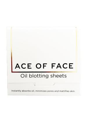 Матирующие салфетки для лица 80 шт ACE OF FACE. Цвет: бежевый