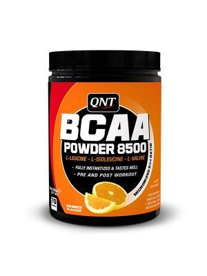 Аминокислоты QNT BCAA Powder 8500 (апельсин), 350г. Цвет: черный