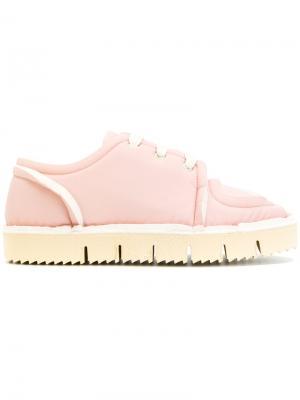 Кроссовки со шнуровкой Marni. Цвет: розовый и фиолетовый