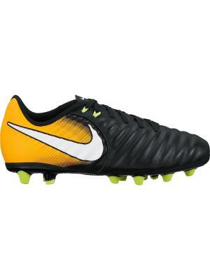 Бутсы JR TIEMPO LIGERA IV AG-PRO Nike. Цвет: черный, белый, оранжевый
