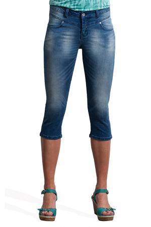 Укороченные джинсы Million X Woman. Цвет: синий