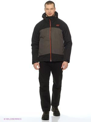 Куртка FROST WAVE JACKET MEN Jack Wolfskin. Цвет: серый