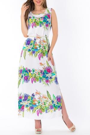 Платье S&A style. Цвет: бело-салатовый