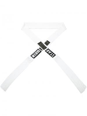 Удлиненный шарф с бахромой Tom Rebl. Цвет: белый