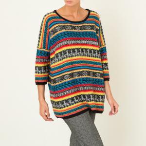 Пуловер женский GRINGO MES DEMOISELLES. Цвет: разноцветный