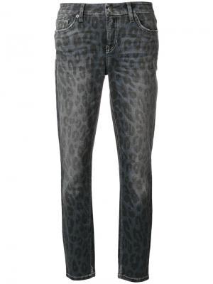 Укороченные джинсы Liu с анималистическим принтом Cambio. Цвет: синий