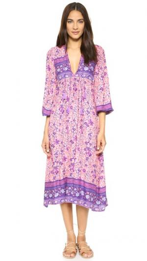 Платье Folk Town SPELL. Цвет: розовый