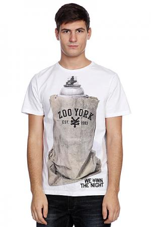 Футболка  We Own Night White/Grey Zoo York. Цвет: белый