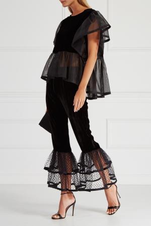Бархатные брюки IVKA. Цвет: черный
