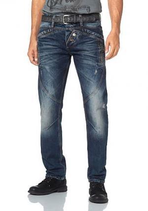 Прямые джинсы Cipo & Baxx. Цвет: синий с эффектом состаренности