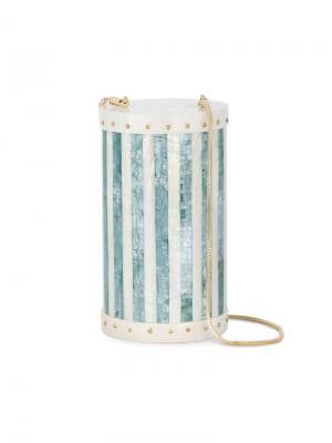 Цилиндрическая сумка из раковин Alexis Nathalie Trad. Цвет: белый
