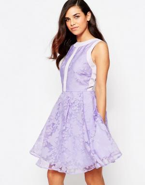 Lashes of London Платье для выпускного из органзы Lila. Цвет: фиолетовый