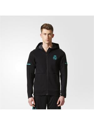 Толстовка REAL ANTH SQD  BLACK Adidas. Цвет: черный