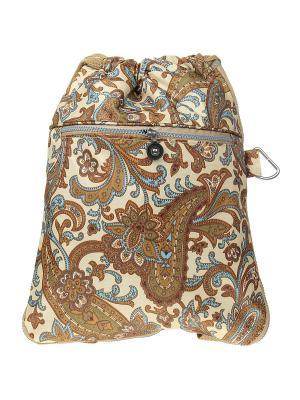 Рюкзак Infiniti. Цвет: коричневый, голубой, кремовый