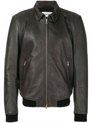 Куртка на молнии Mauro Grifoni. Цвет: чёрный