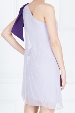 Шелковое платье Azzaro. Цвет: фиолетовый