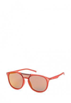 Очки солнцезащитные Polaroid. Цвет: красный