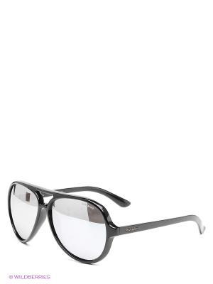 Солнцезащитные очки Polaroid. Цвет: черный, серебристый