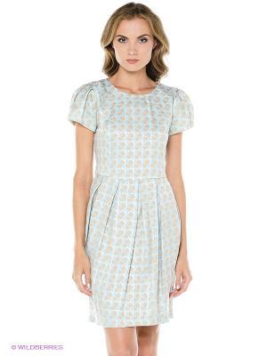 Платье TOPSANDTOPS. Цвет: голубой, бежевый