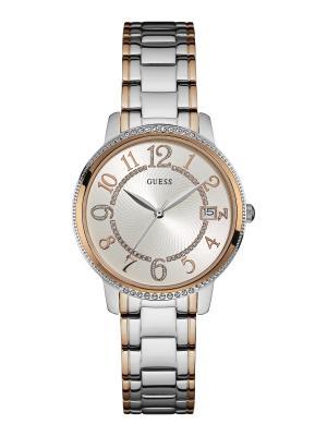 Часы GUESS. Цвет: серебристый, золотистый, красный