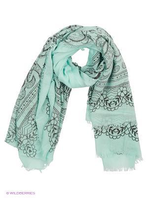 Платок Lovely Jewelry. Цвет: серо-зеленый, светло-зеленый, серебристый