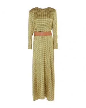Длинное платье MOMONÍ. Цвет: желтый