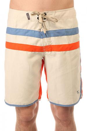 Шорты пляжные  Bar None Orange Lost. Цвет: оранжевый,бежевый,голубой