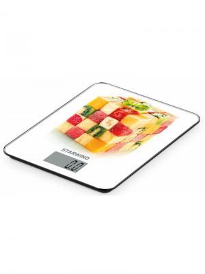 Весы кухонные электронные Starwind SSK3359. Цвет: белый