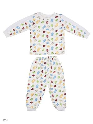 Пижама Babycollection. Цвет: молочный, голубой