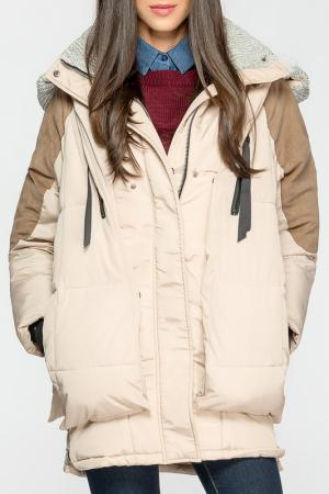 Куртка Joins. Цвет: бежевый