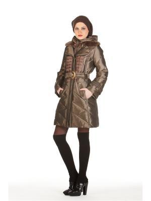 Пуховое пальто BCVS makelove. Цвет: бронзовый