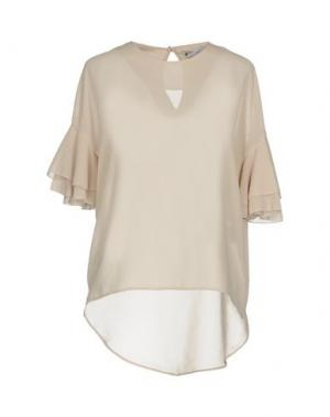Блузка ANGELA MELE MILANO. Цвет: бежевый