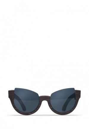Солнцезащитные очки Woodsun. Цвет: черный