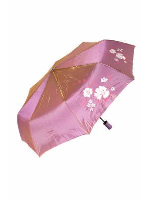 Зонт Mitya Veselkov. Цвет: фиолетовый, золотистый