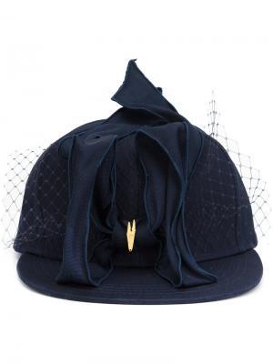 Petersham baseball hat Piers Atkinson. Цвет: синий