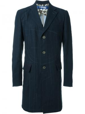 Пальто с декоративными швами Junya Watanabe Comme Des Garçons Man. Цвет: синий
