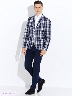 Пиджак ABSOLUTEX. Цвет: синий, белый