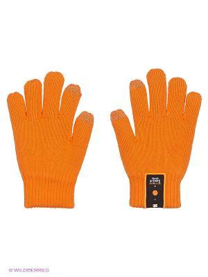 Перчатки TALKERS с гарнитурой Bluetooth (S) DRESS COTE. Цвет: оранжевый