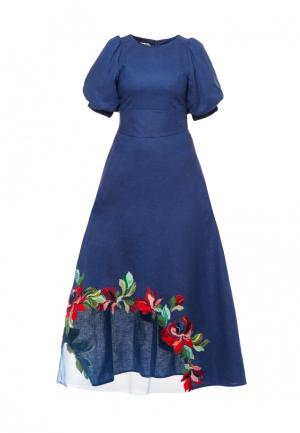Платье Yukostyle. Цвет: синий