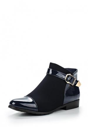 Полусапоги Style Shoes. Цвет: синий