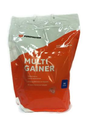 Гейнер Pure Protein Multi Gainer (клубника со сливками) 3000 г. Цвет: белый, оранжевый