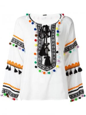 Блузка Yehoray Dodo Bar Or. Цвет: белый